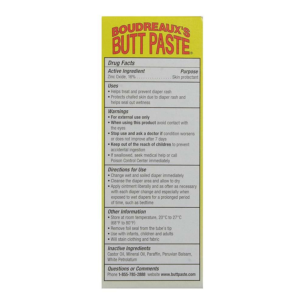 Boudreaux's Butt Paste Diaper Rash Ointment, Zinc Oxide