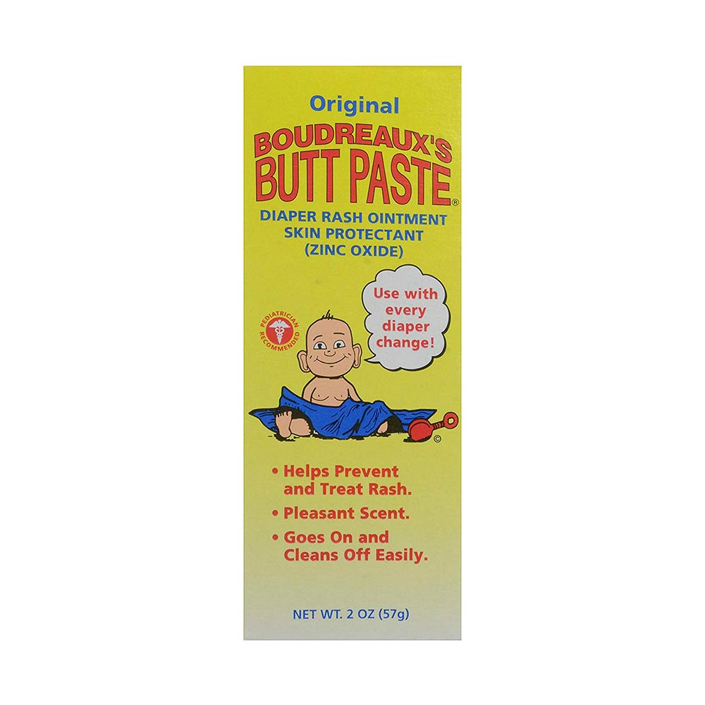 Boudreaux's Butt Paste Diaper Rash Ointment, Zinc Oxide