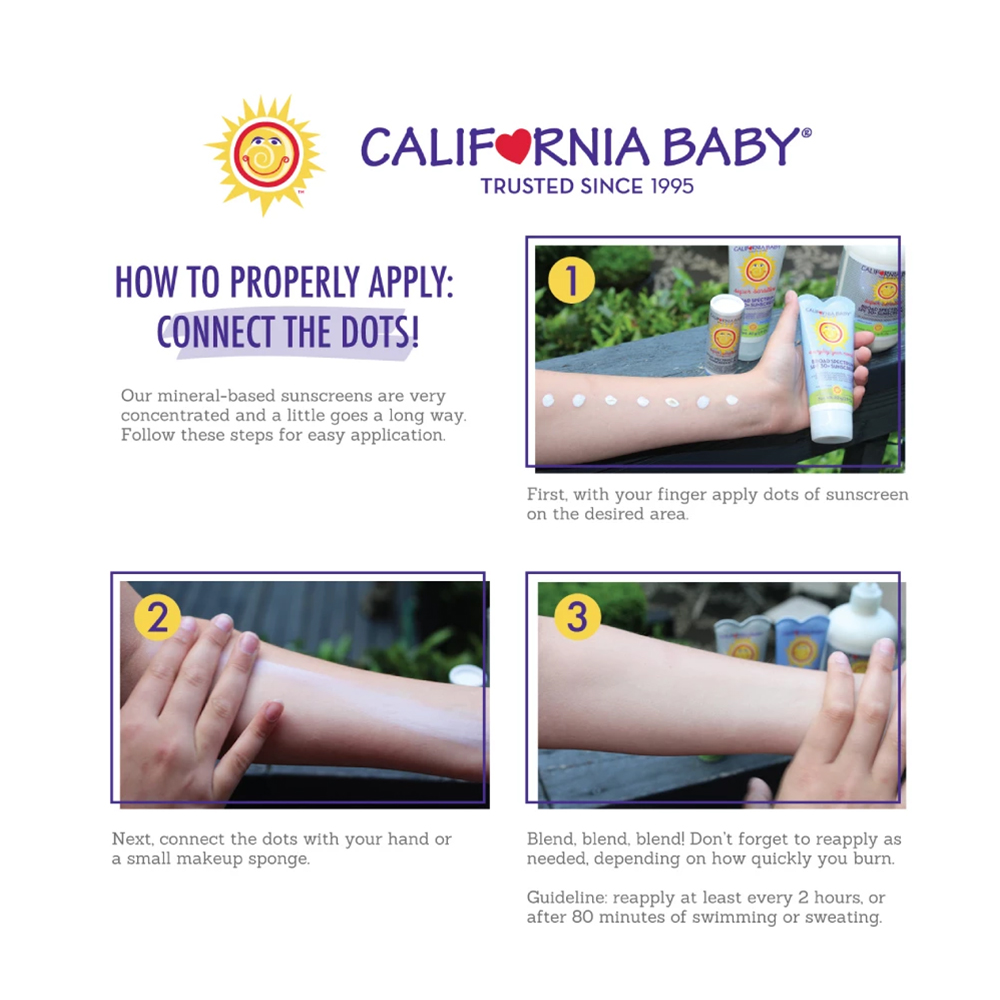 California Baby Sunscreen Lotion SPF 30+ Summer Blend