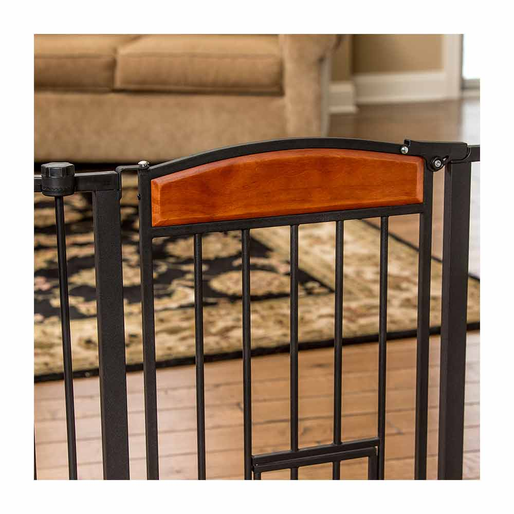 Carlson Pet DS Design Paw 3 Panel Wooden Gate-1