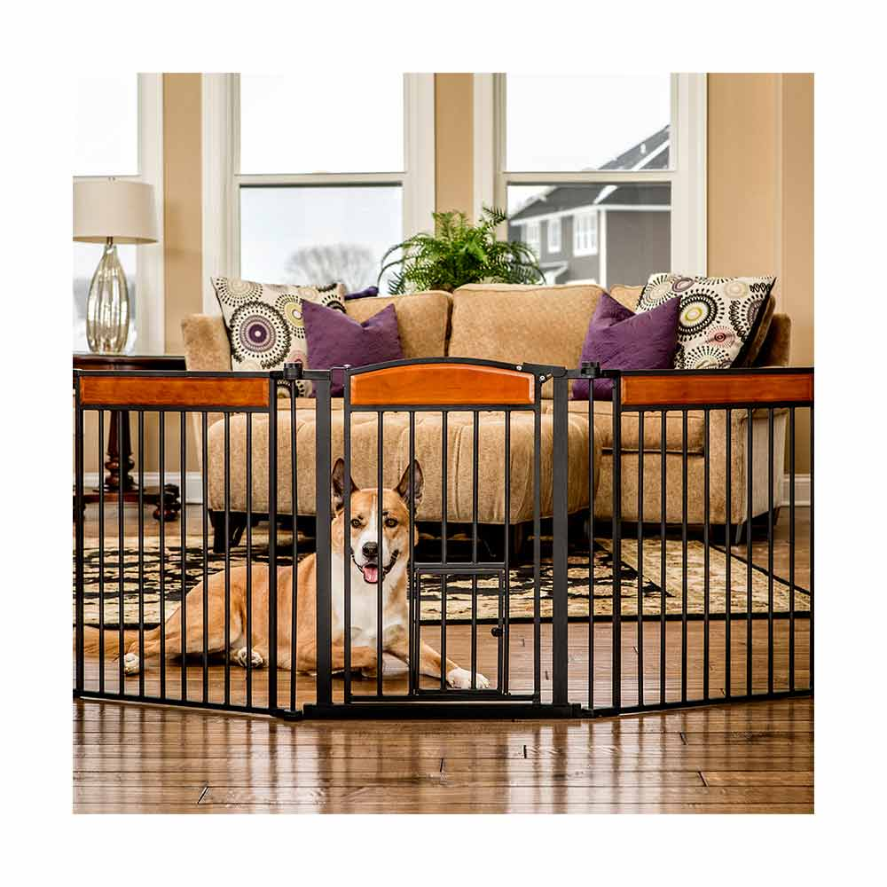 Carlson Pet DS Design Paw 3 Panel Wooden Gate-0