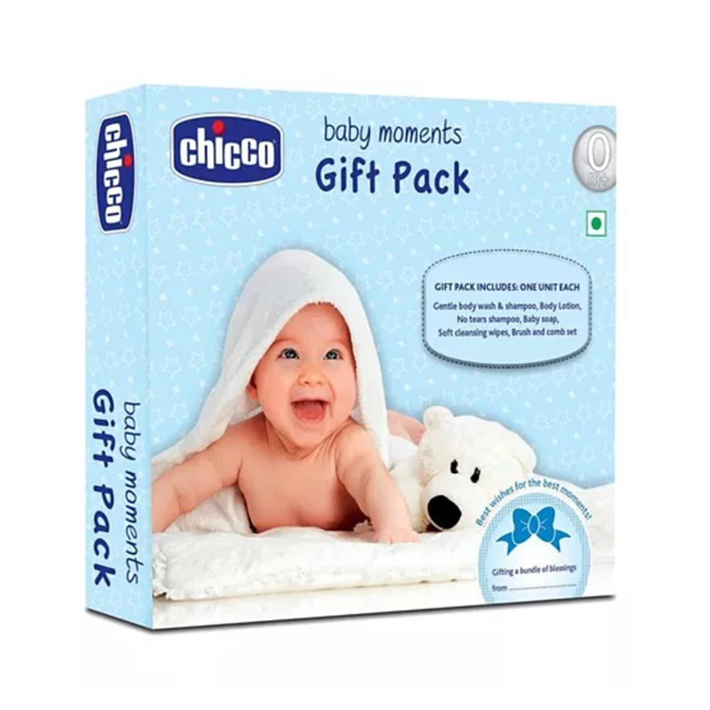 Chicco Baby Moments Skin Care Gift Pack Blue
