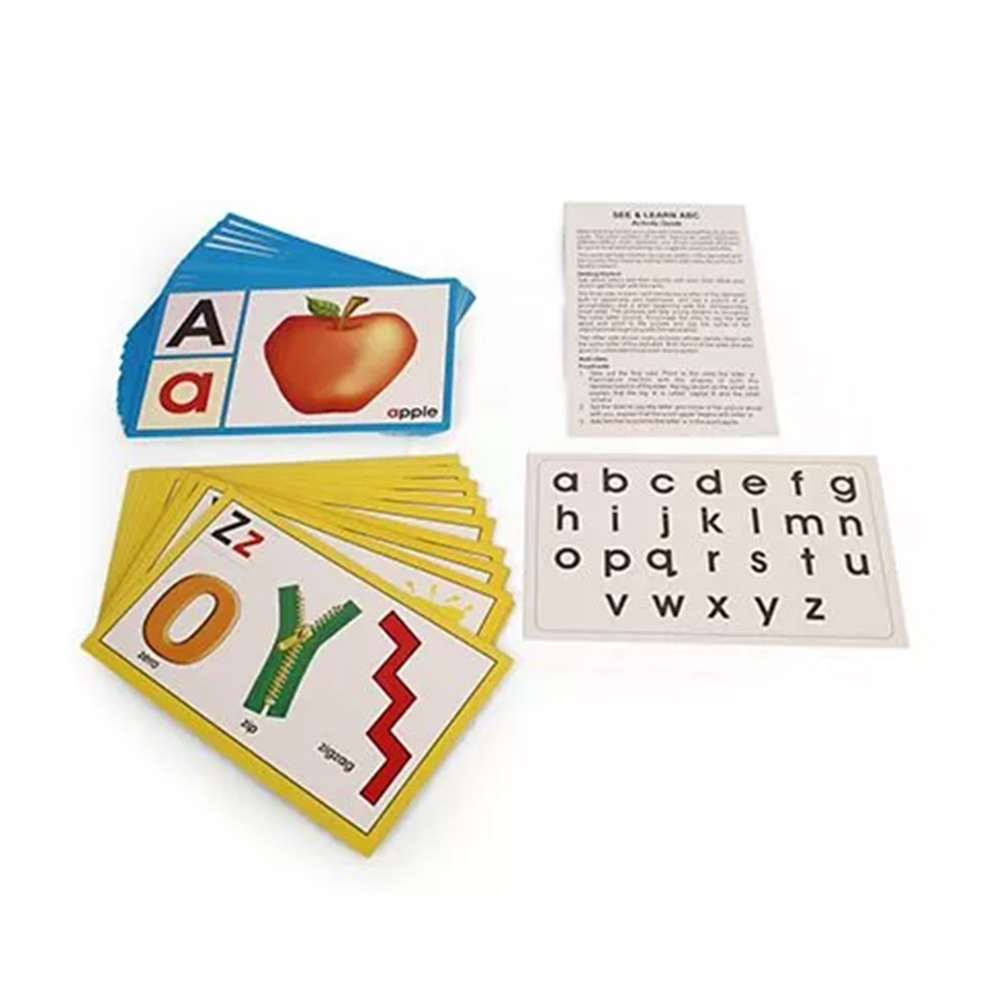 Creative See & Learn Alphabet Flash Cards - 27 Pieces