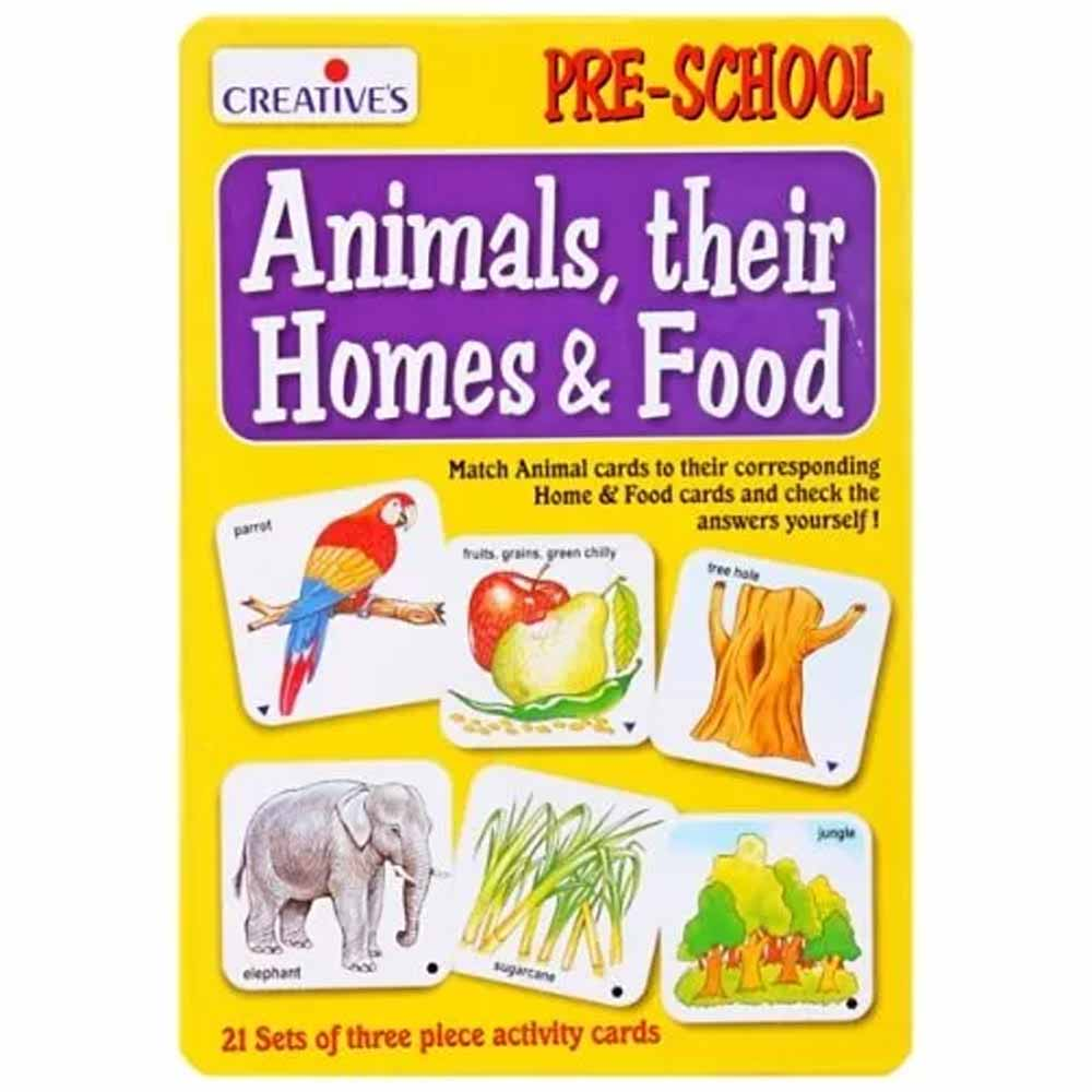 Creatives - Animals Their Homes & Food Activity cards