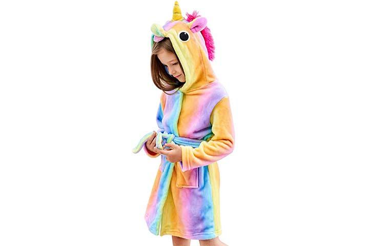 Doctor Unicorn Soft Unicorn Hooded Bathrobe