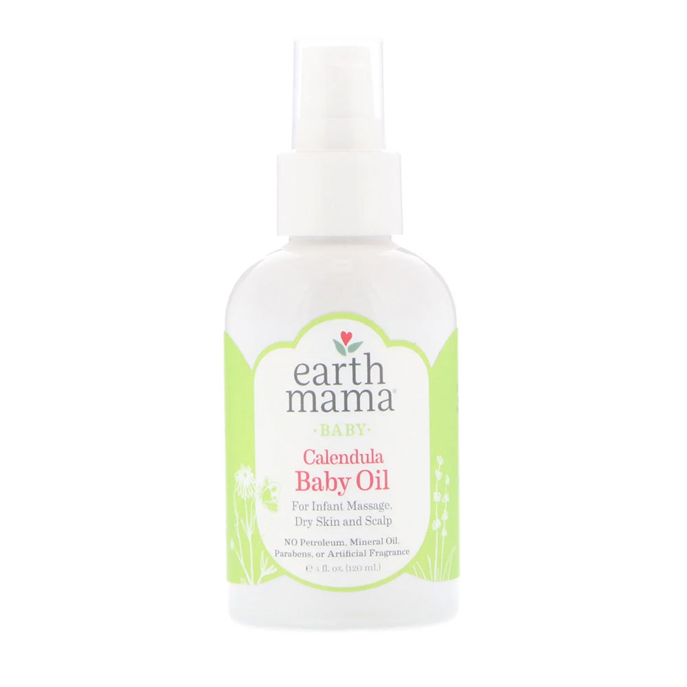 Earth Mama Calendula Baby Oil for Infant Massage