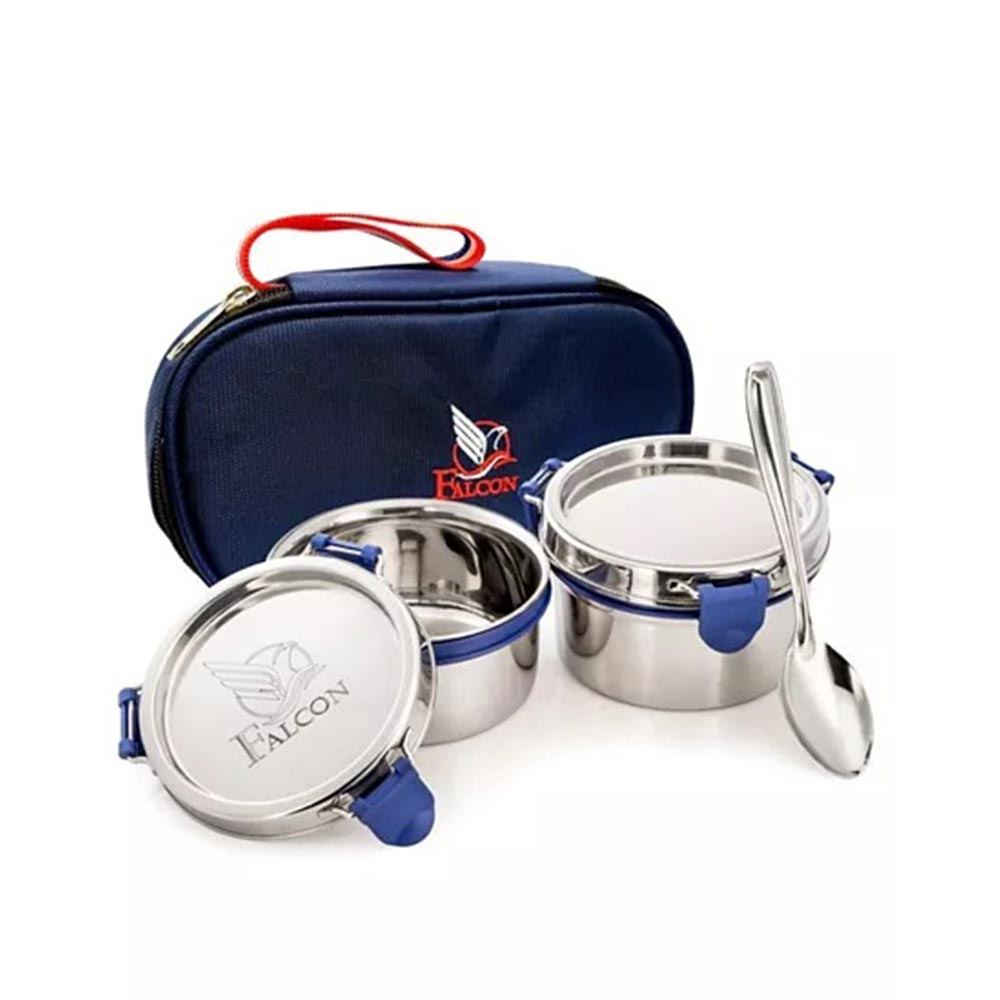 Falcon Eco Nxt Stainless Steel Lunch Box Set With Spoon