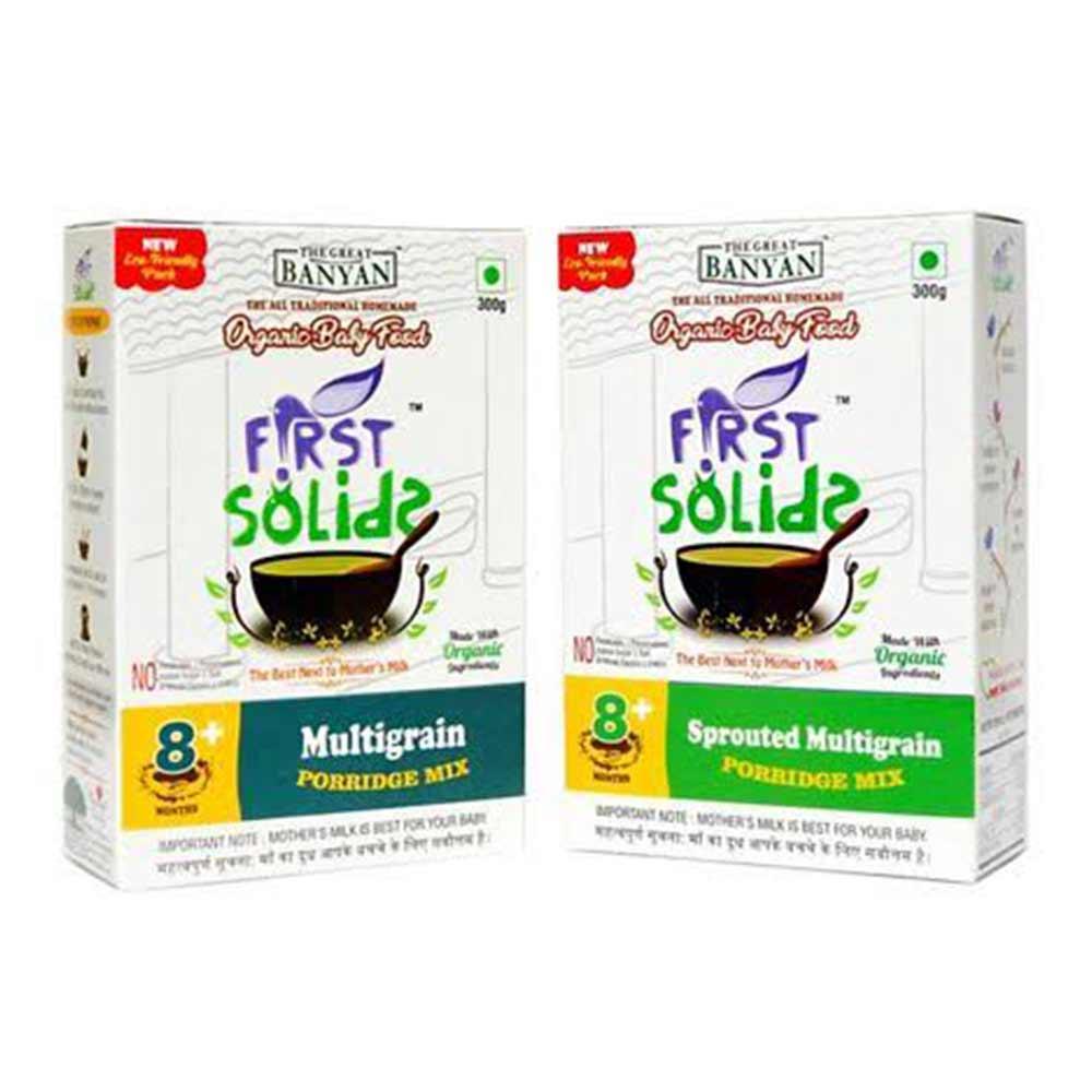 First Solids Organic Multigrain & Sprouted Multigrain Combo