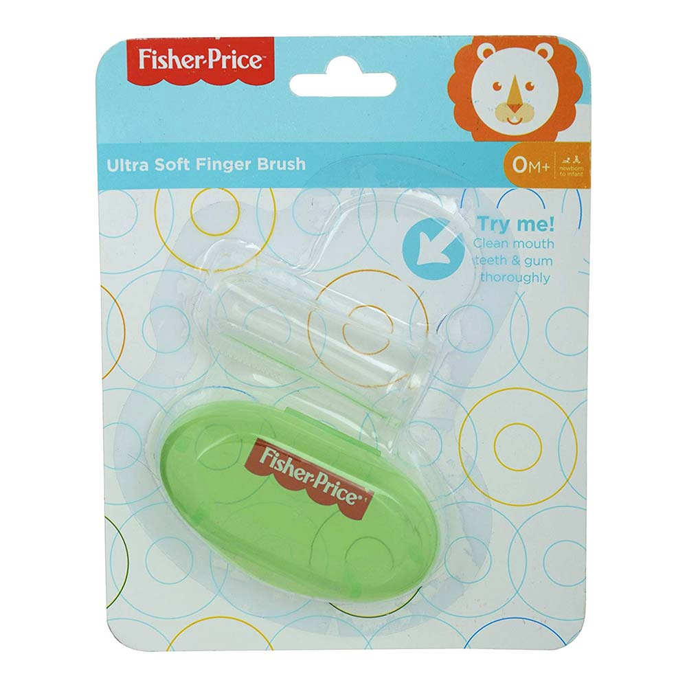 Fisher-Price Silicone Baby Finger-Brush with Case
