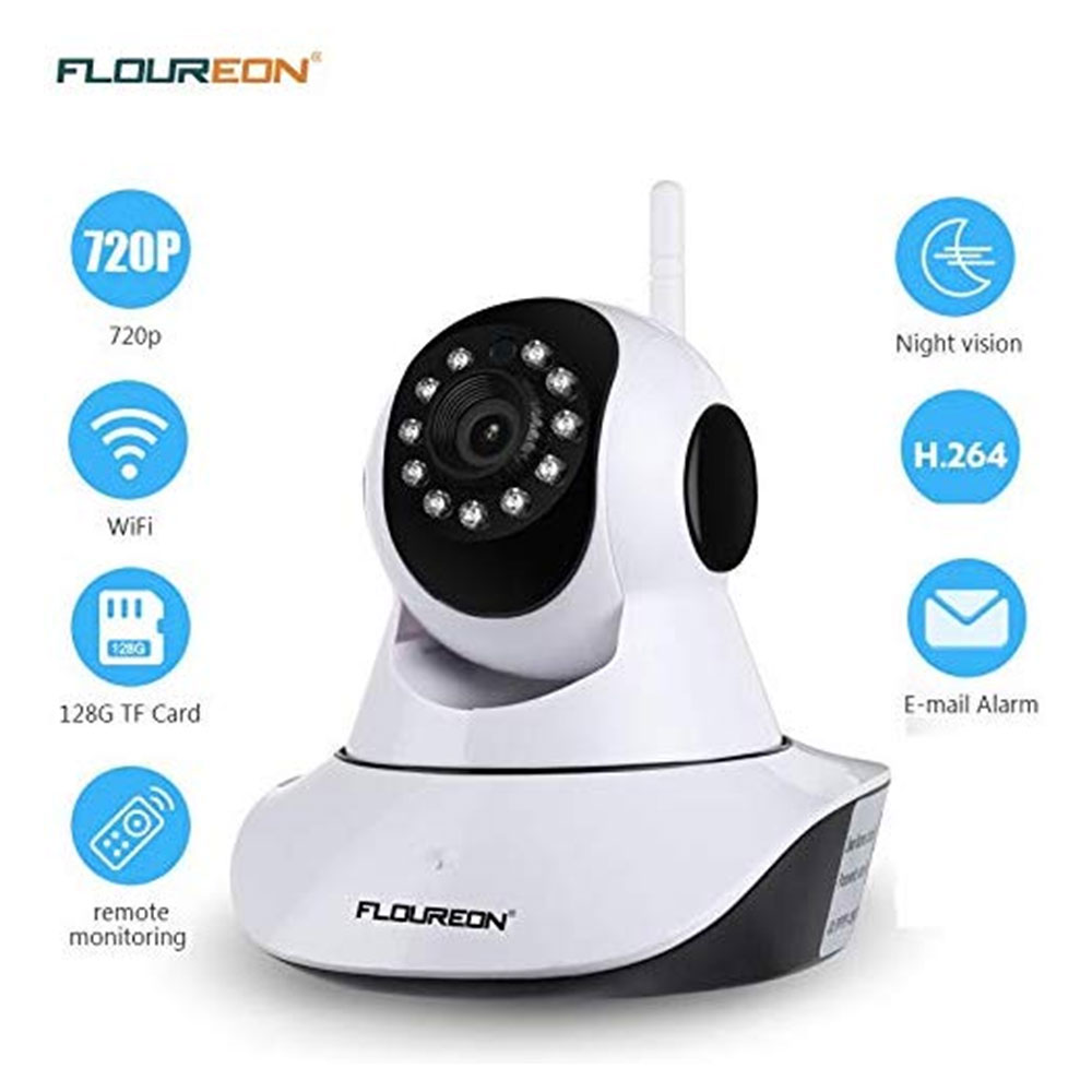 Floureon Night Vision WiFi Camera Baby Monitor