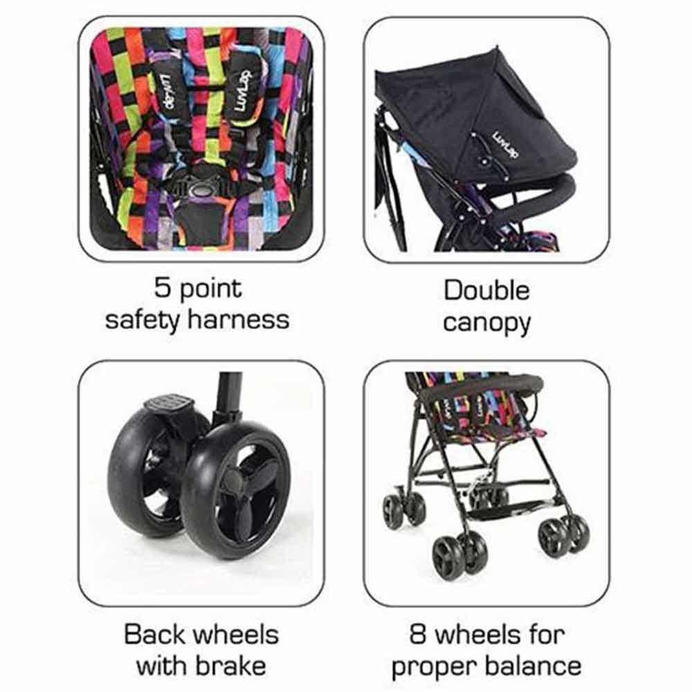 LuvLap Tutti Frutti Baby Stroller Buggy-1
