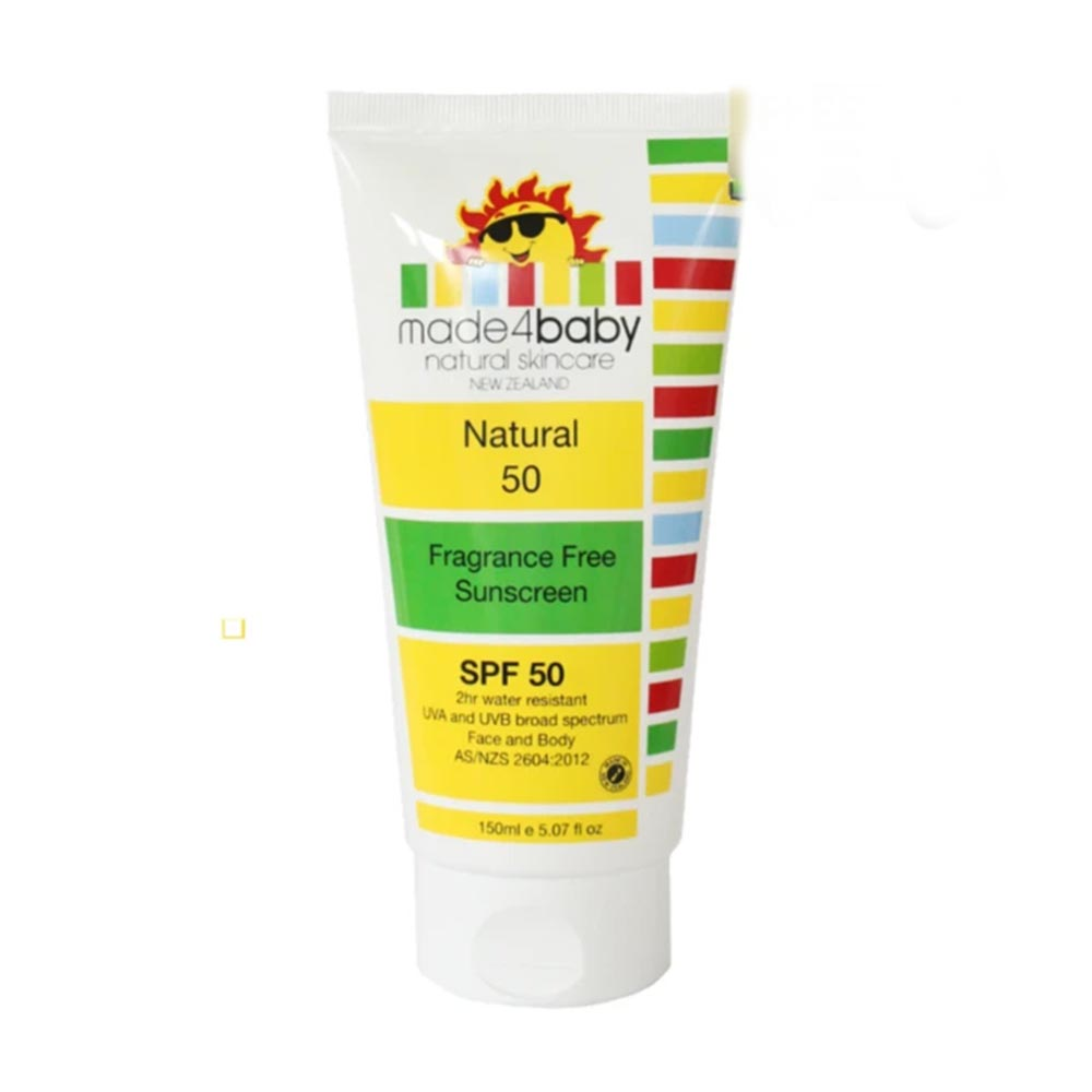 Made4baby Natural 50 Fragrance Free Sunscreen