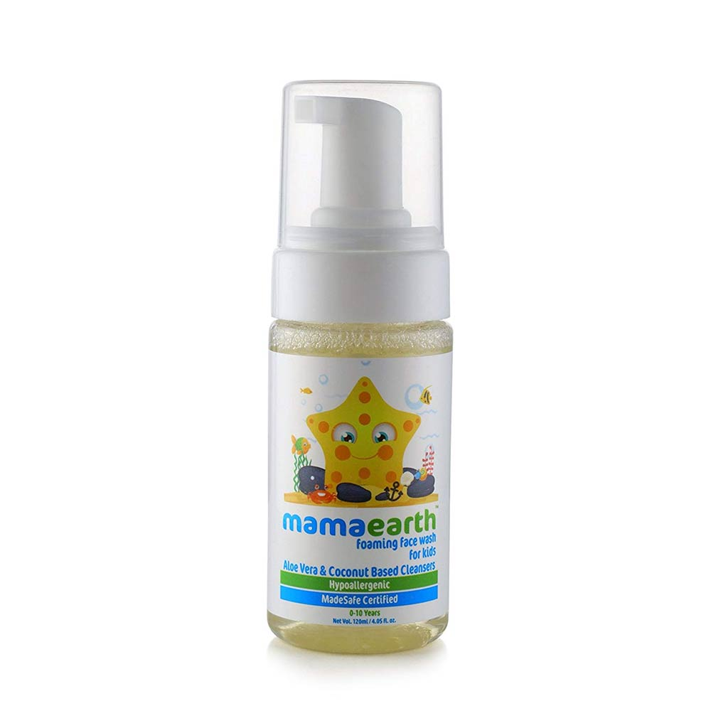 Mamaearth Foaming Baby Face Wash for Kids with Aloe Vera and Coconut Based Cleansers