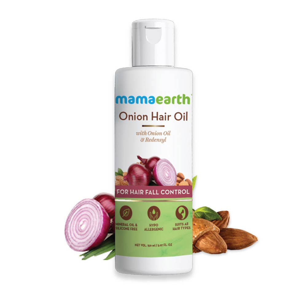 Mamaearth Onion Hair Oil for Hair Regrowth and Hair Fall Control