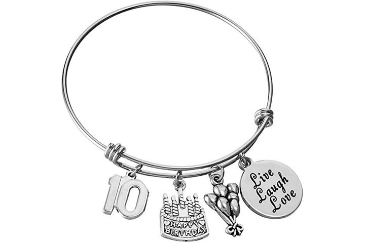 Miss Pink Stainless Steel Expandable Bangle