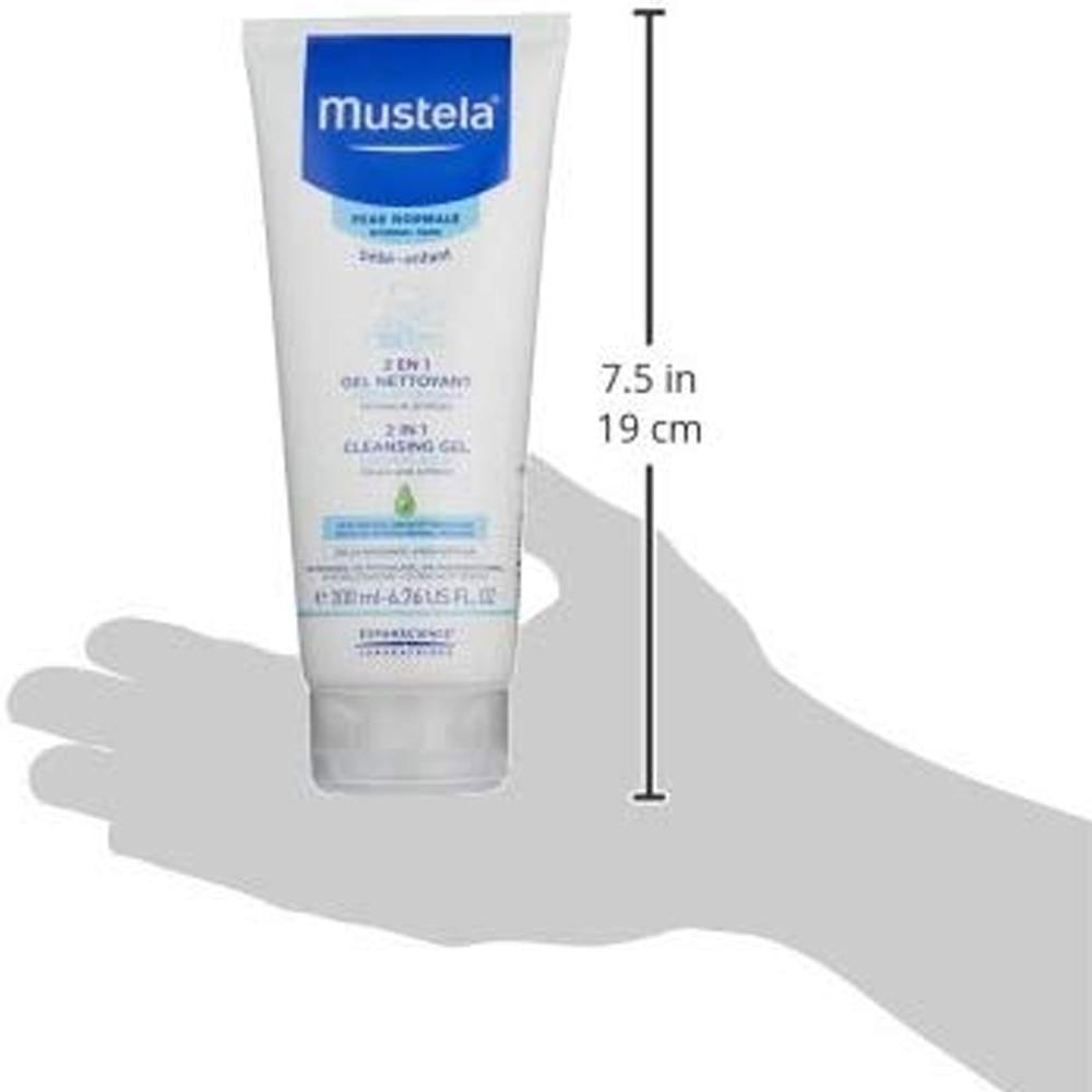 Mustela Hair and Body Wash, White-3