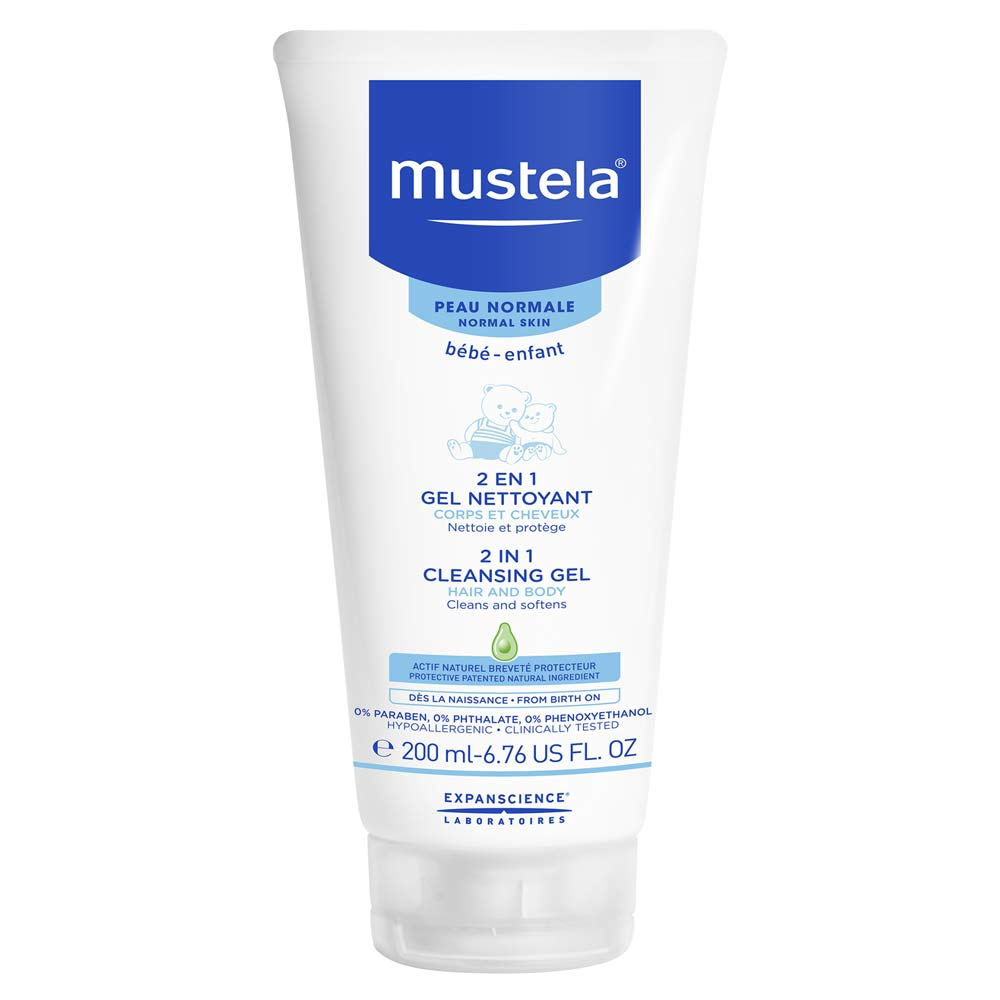 Mustela Hair and Body Wash, White