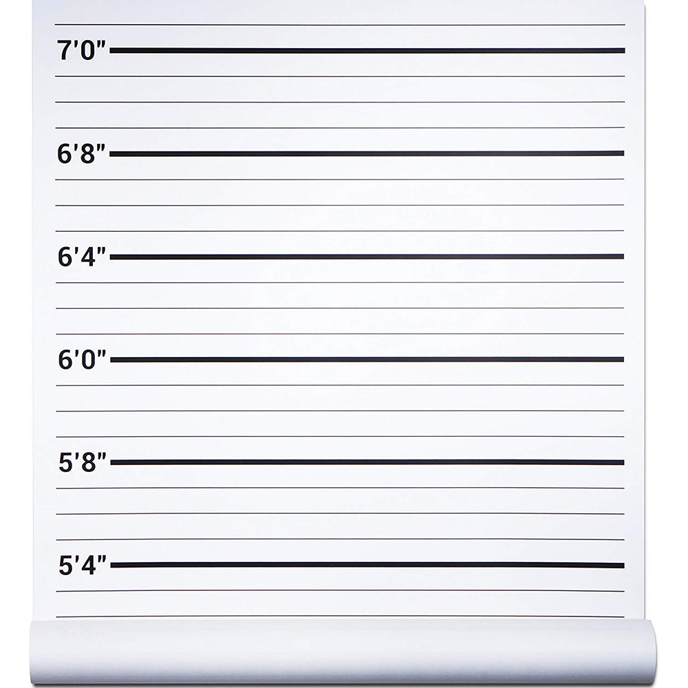 Papery Pop Height Chart Backdrop