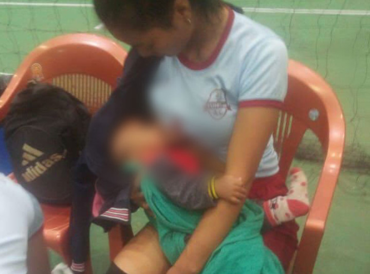 Picture Of Mizoram Volleyball Player Breastfeeding During Halftime Goes Viral – Wins Hearts