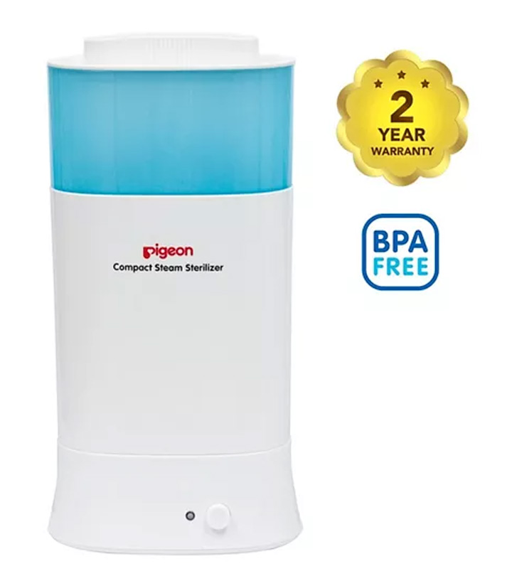 Pigeon Compact Steam Sterilizer  White Blue