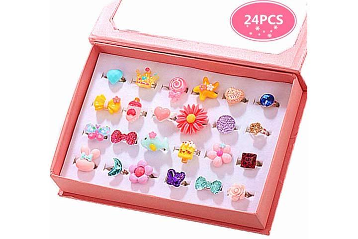 PinkSheep Little Girl Jewel Rings