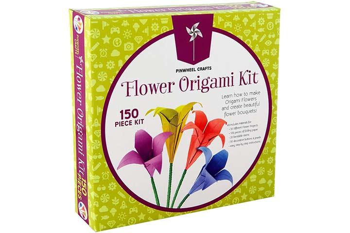 Pinwheel Crafts Kids Origami Paper Folding Kit