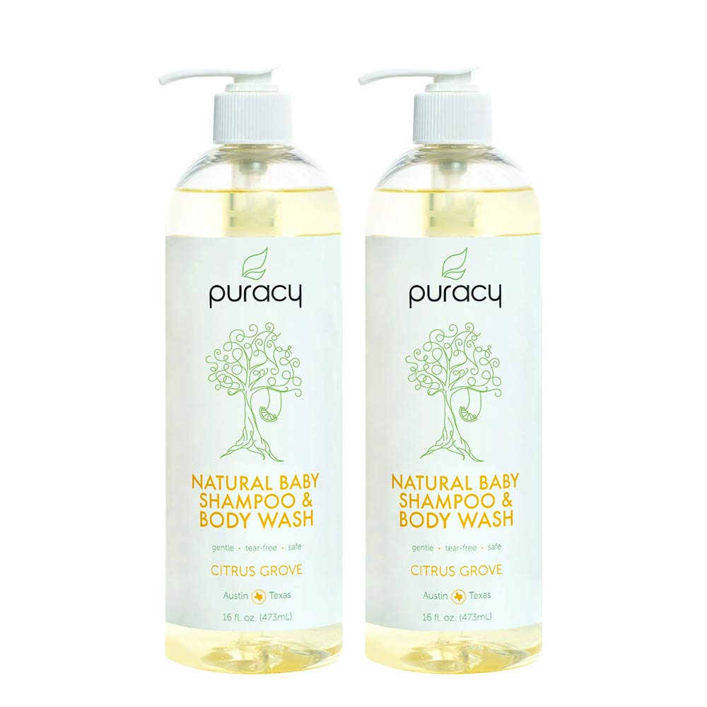 Puracy Natural Baby Shampoo & Body Wash, Tear-Free Soap-0