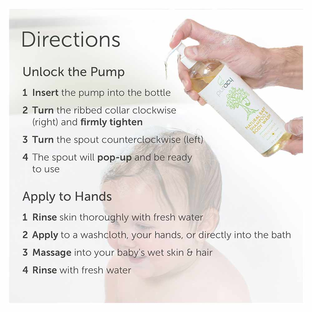 Puracy Natural Baby Shampoo & Body Wash, Tear-Free Soap-2