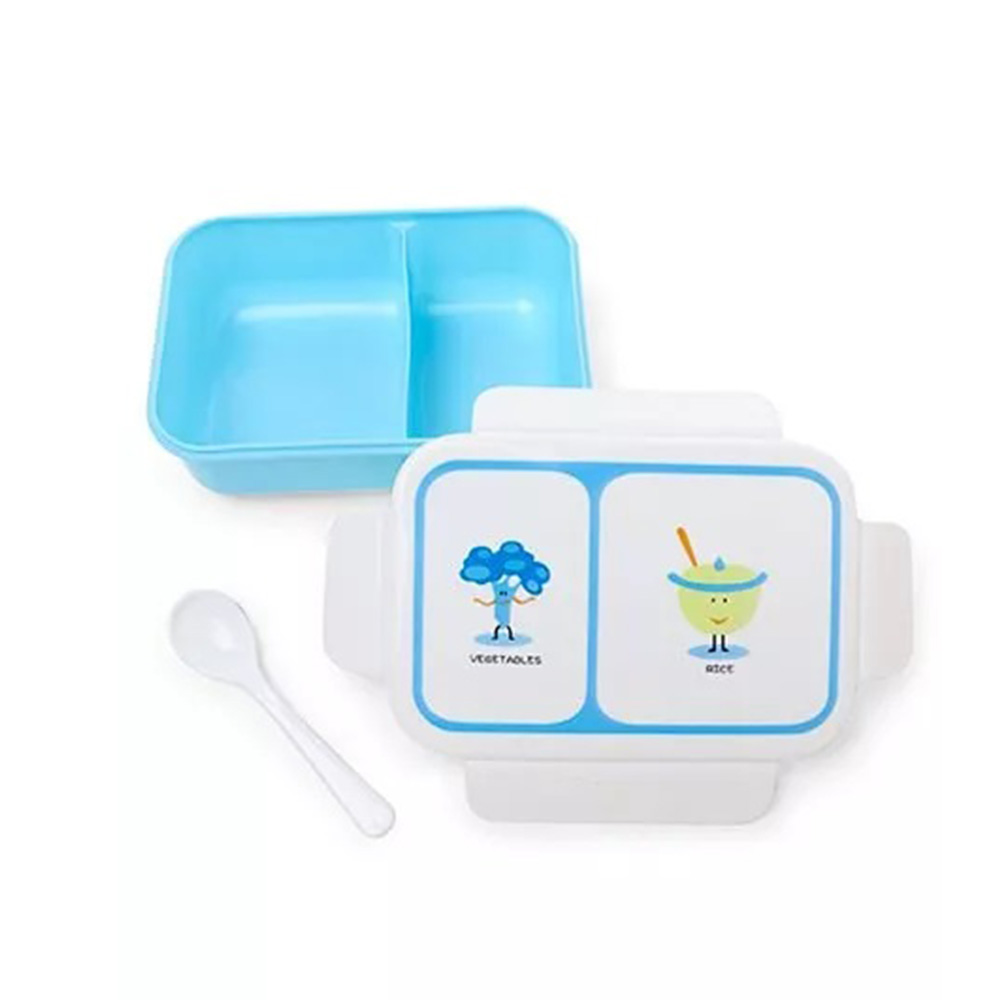Rectangular Shaped Lunch Box With Spoon