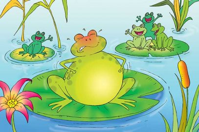 मेंढक और बैल की कहानी   The Frog And The Ox Story In Hindi