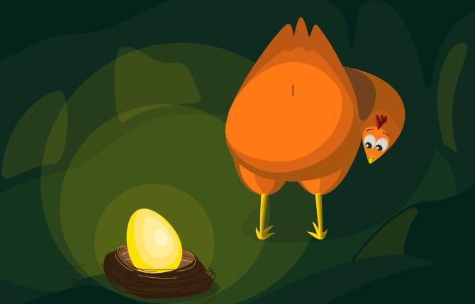 The golden hen