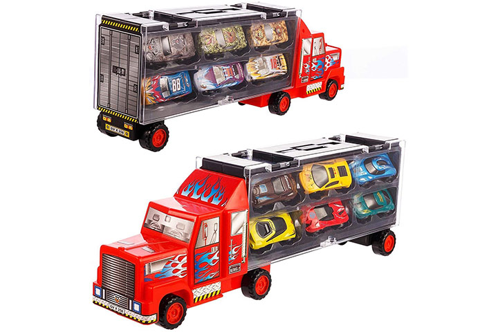 Tuko Car Toys Die-Cast Carrier Truck Vehicle