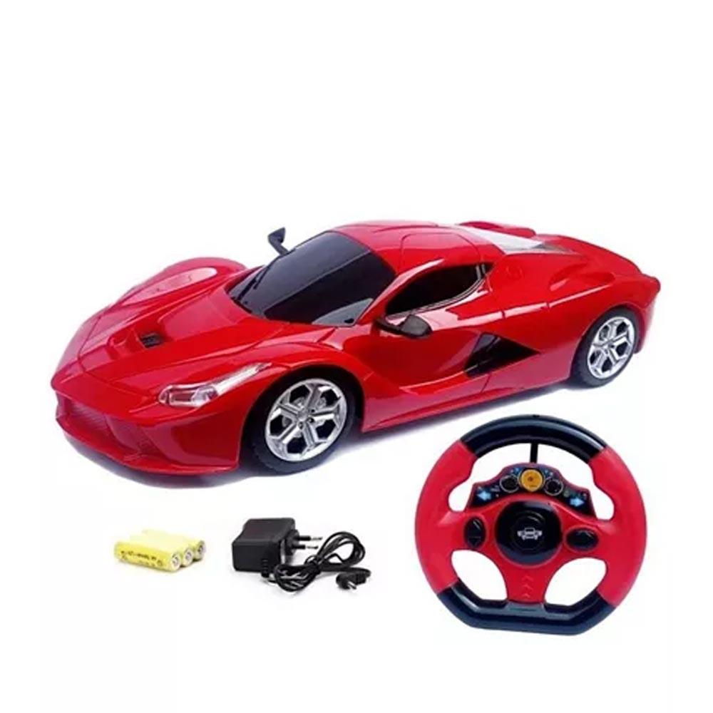 Zest 4 Toyz Steering Wheel Controlled Racing Speed Car