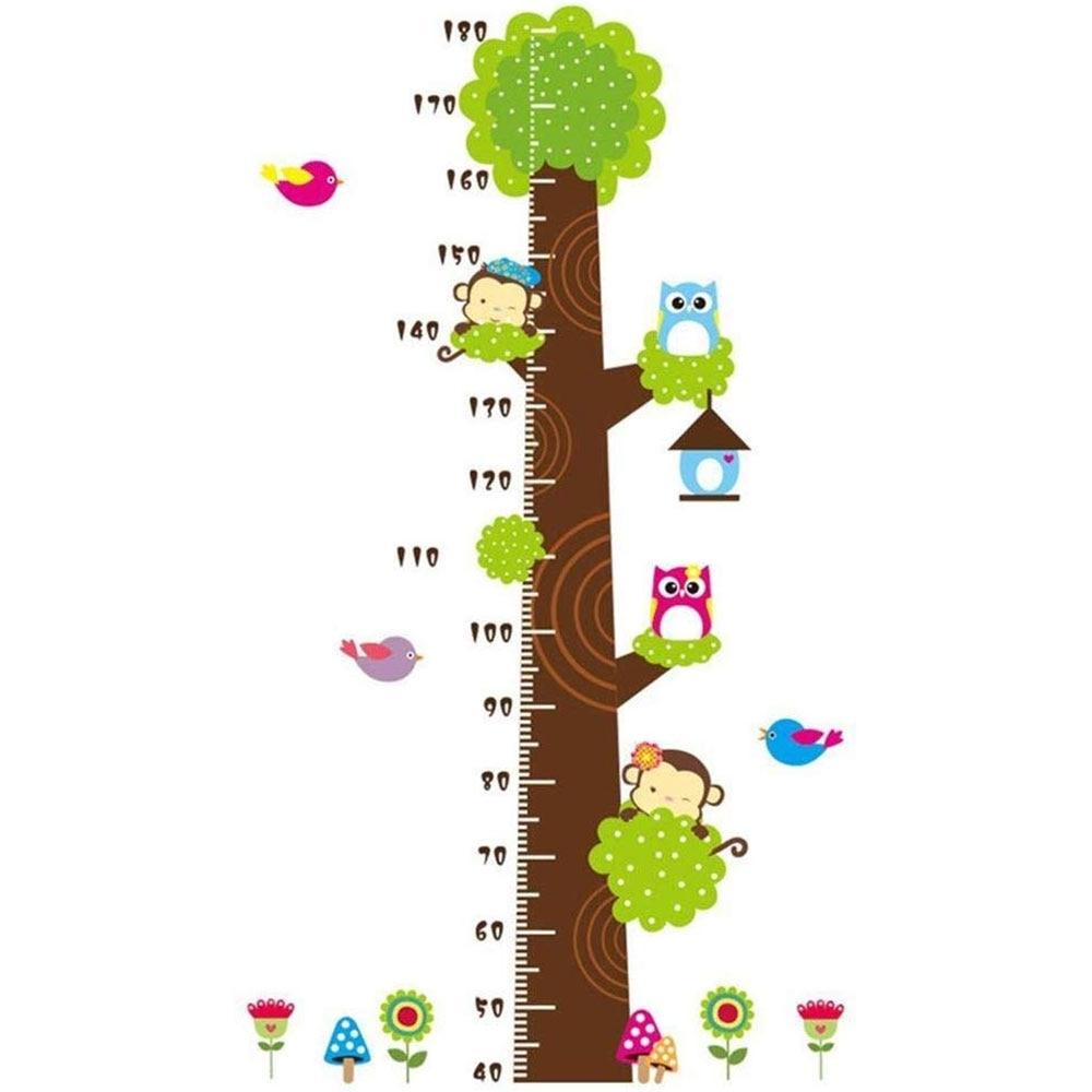 edealing Cartoon Jungle Owl Monkeys Children Height Measure