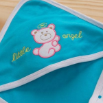 Babyhug 2 Ply Hosiery Hooded Wrapper-For new born and a year old baby-By sammiya