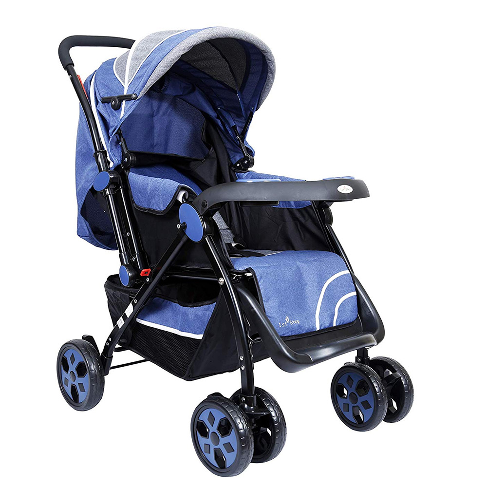 1st Step Baby Pram Cum Stroller with Canopy
