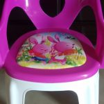 TIED RIBBONS Soft Cushion Plastic Chair for Kids-Light weight Chair-By poonam2019