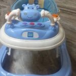 Mee Mee Baby Walker with Adjustable Height and Push Handle Bar-Good Quality Walker-By poonam2019