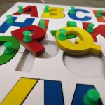 Little Genius - Wooden English Alphabet Uppercase With Knob-Perfect Learning Game-By poonam2019