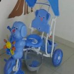 Mee Mee 2 in 1 Baby Tricycle with Rocking Function with Canopy-Baby Fun Tricycle-By poonam2019