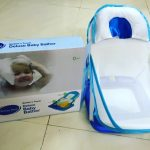 Honey Bee Deluxe Baby Bather-Comfortable bather with cushion-By diya_sanesh