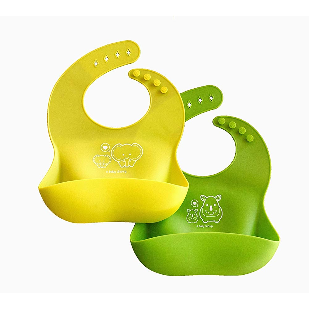 A Baby Cherry Waterproof Silicone Bib