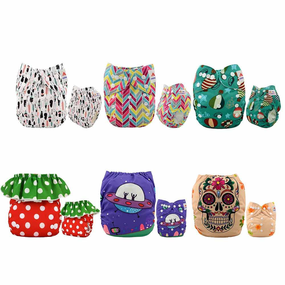 Alva Baby Reuseable Washable Pocket Cloth Diapers