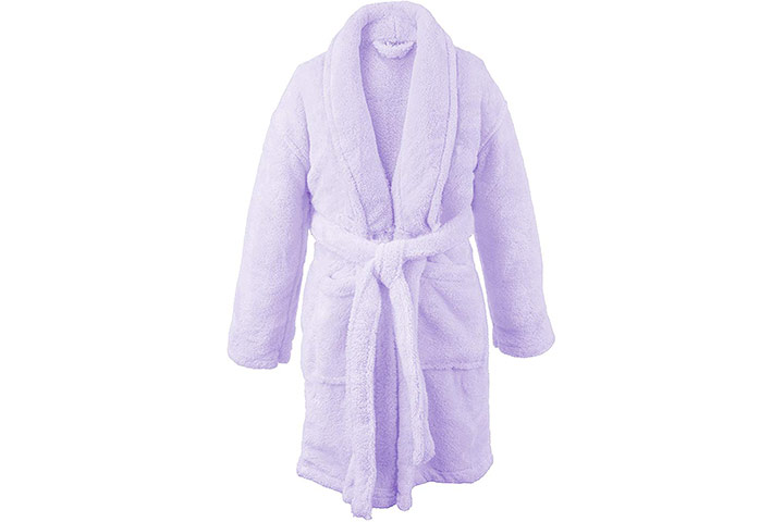 BC BARE COTTON Bare Cotton Kids Microfiber Fleece Shawl Robe
