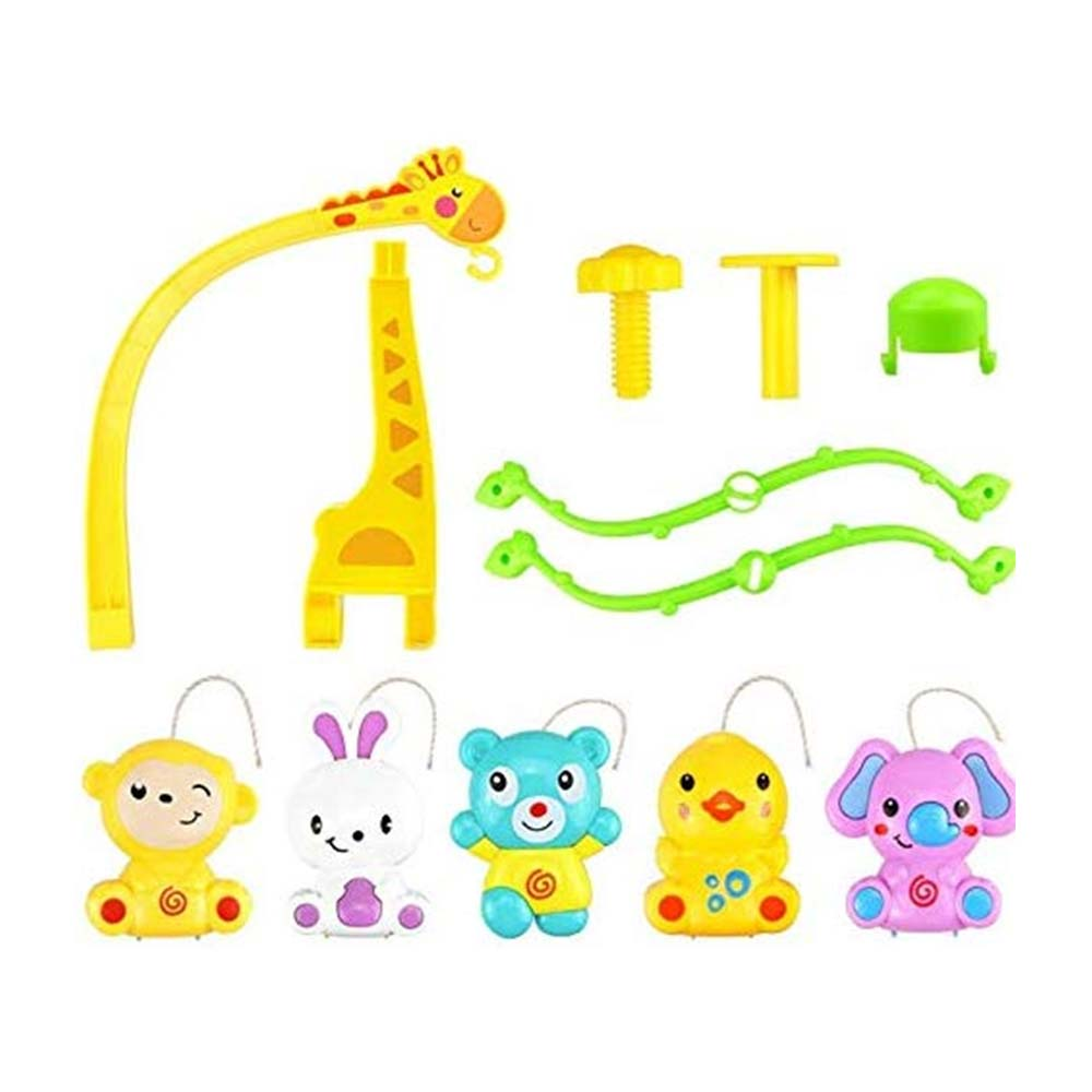 BabyGo Rotating Giraffe Musical Rattle Cot Mobile for Cradle