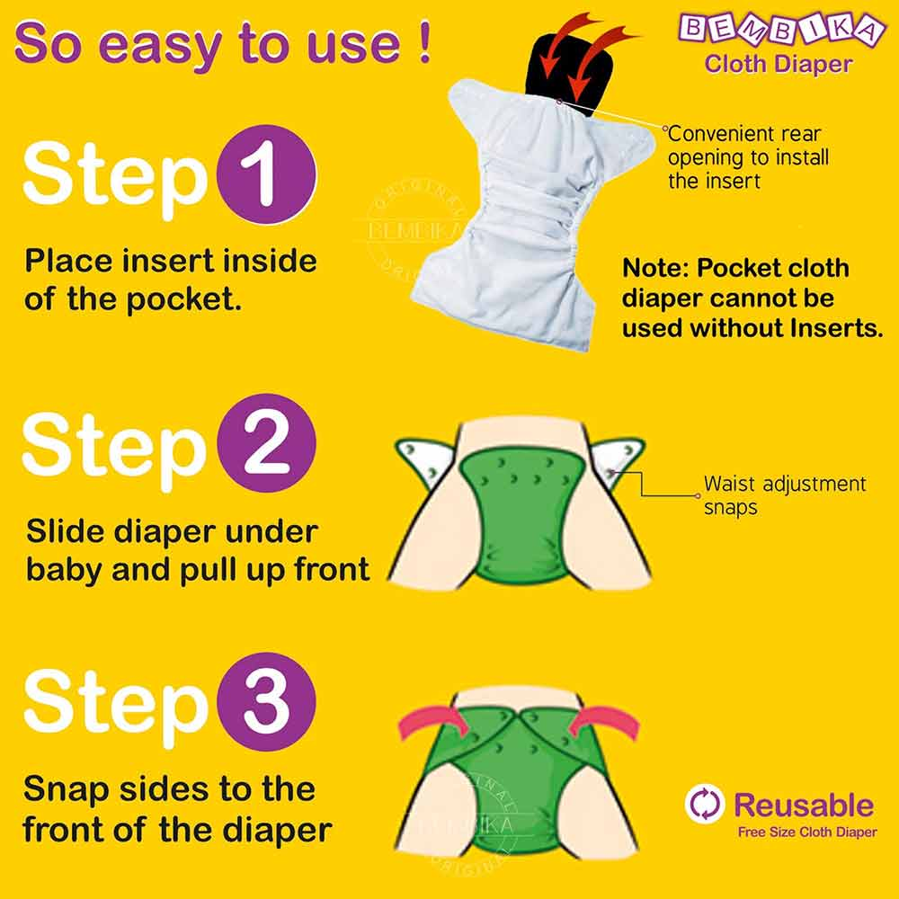 Bembika Baby Pocket Cloth Diapers