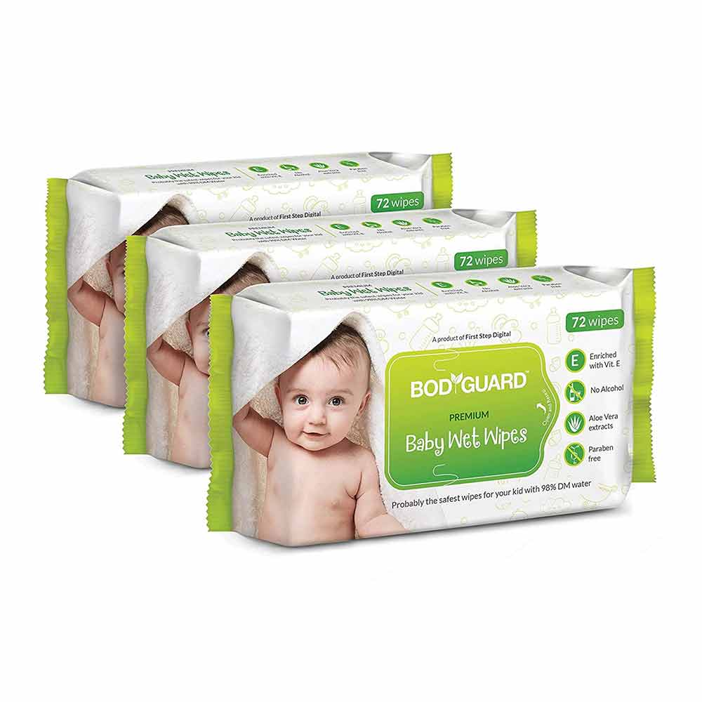 BodyGuard Baby Wet Wipes with Aloe Vera