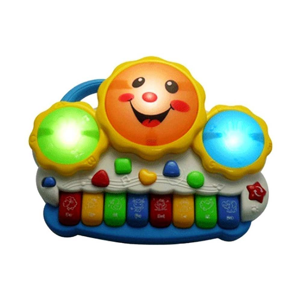 Cartup Musical Drum Toy with Flashing Lights and Music
