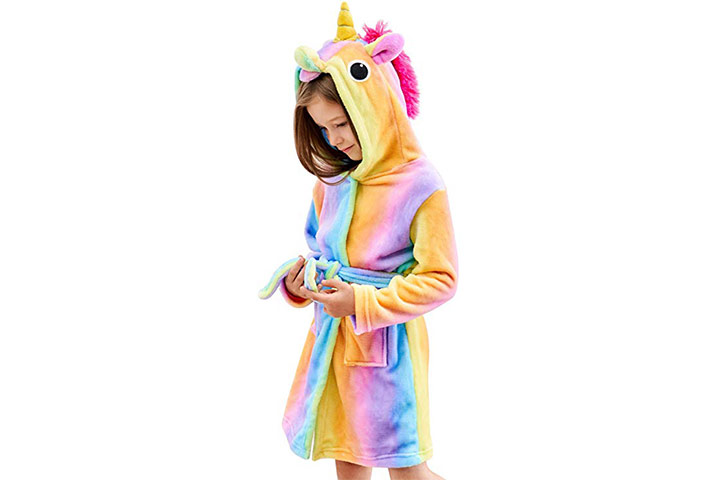 Doctor Unicorn Soft Unicorn Hooded Bathrobe Sleepwear