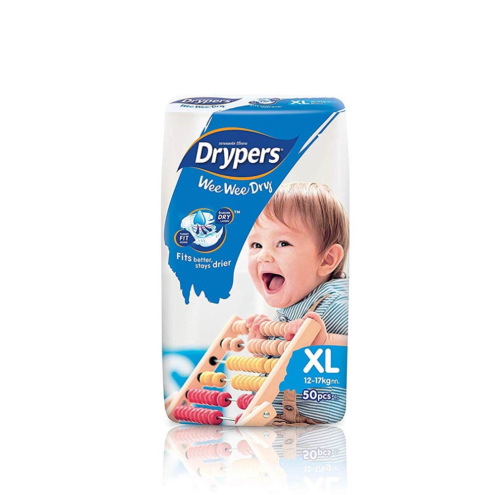 Drypers Wee Wee Dry Extra Large Sized Diapers